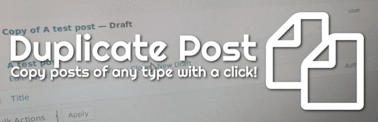 WordPress快速克隆原有文章插件:Duplicate Post插图